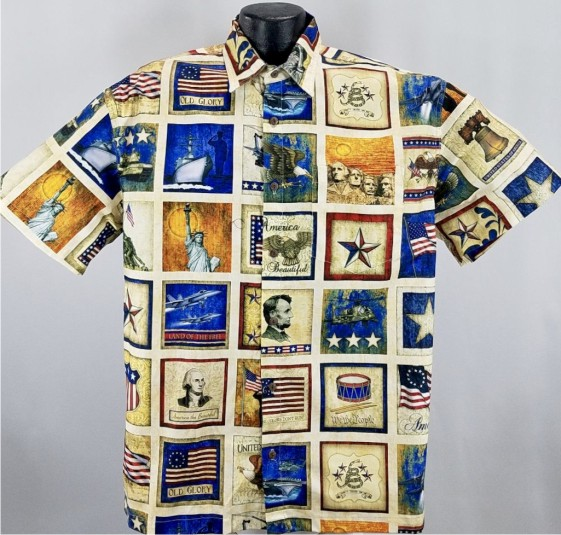 Patriotic Hawaiian Shirt