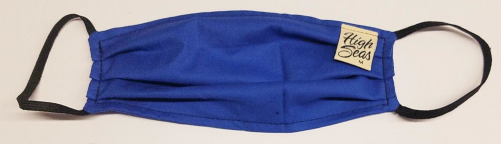 Royal Blue 100% Cotton Face Mask  Made in USA