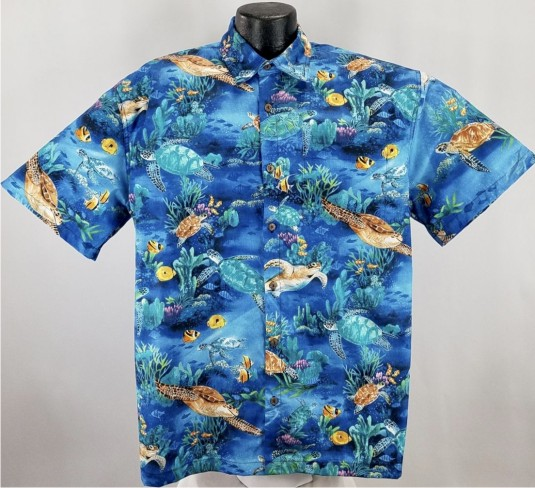 Sea  Turtle Hawaiian Aloha shirt